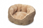 Soft Fawn Plush Oval Bed